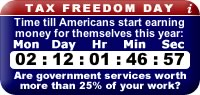 US Tax Freedom Clock widget