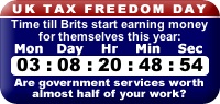 UK Tax Freedom Clock widget